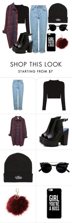 """Grunge."" by annecr0wley ❤ liked on Polyvore featuring Topshop, Monki, Vans and Charlotte Russe"