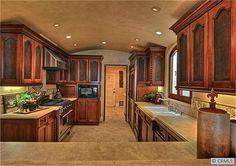 Gourmet Tuscan Kitchen - love this layout. I can see lots of baking and cooking being done in a kitchen like this.