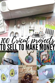 100 Cricut Projects to Sell to Make Money with Cricut Maker Cricut Projects To Sell, Cricut Tutorials, Cricut Project Ideas, Vinyl Craft Projects, Crafty Projects, Diy Projects To Try, Art Projects, Home Renovation, Cricut Craft Room