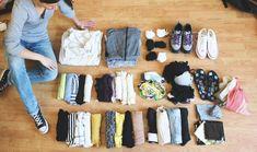 Weltreise Packliste: Kleidung für Frauen auf Weltreise