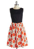 """I purchased this """"grill of the moment dress"""" and paired it with a cropped black shrug and strappy black heels. Retro. Stylish and Fun! Take a risk on this one! The compliments I receive are hilariously charming. xoxo"""