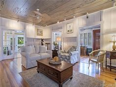 210 11th Street South, Naples, FL 34102 | Florida beach house - wood floors and ceilings - wainscoting.  Olde Naples, FL