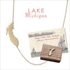 Lake Michigan necklace by Kerry Gilligan Available in sterling silver or 14k yellow gold