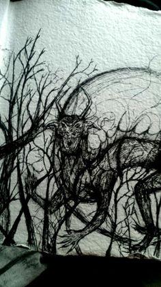 ink demonic creature
