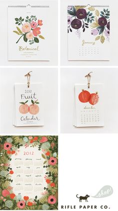 rifle paper co. -love their watercolor floral illustrations