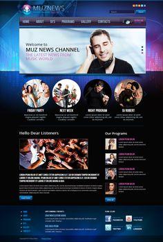 Muz News Radio Station Joomla Template by Dynamic Template