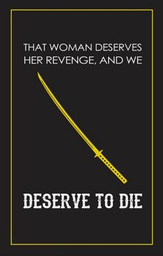 Kill Bill: Vol. 2 (2004) ~ Movie Quote Poster by Casey Wenstrom #amusementphile
