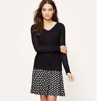 """Sprinkle Dot Knit Circle Skirt - Done in the softest jersey knit, this skirt is made for a summer twirl. Elasticized waistband. 20 1/2"""" long."""