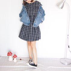 black grid dress by https://www.facebook.com/needanewneedle