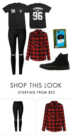 """""""Luke girl #1 for 5sos fam outfit series"""" by bandgirl1213 ❤ liked on Polyvore featuring Converse, women's clothing, women, female, woman, misses and juniors"""