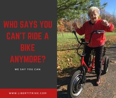 The Liberty Electric Trike is Powerful, Ultra-Portable and Fun! The Most Popular Electric Adult Tricycle in the World. E Bike Kit, Adult Tricycle, Electric Tricycle, Old Person, Ps, Roots, Liberty, Cycling, Bicycle
