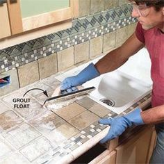 Installing your own tile countertop