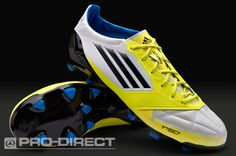 meet 69ef5 5d20f adidas Football Boots - adidas F50 adizero TRX FG Leather - Firm Ground -  Soccer Cleats - White-Lime-Onix