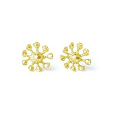 Bloom Studs in brass & gold from Pooka Queen