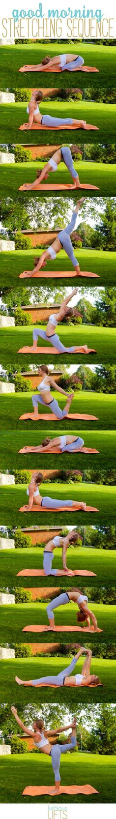 a pretty sweet #yoga sequence to wake you up in the morning! || lushiouslifts.com