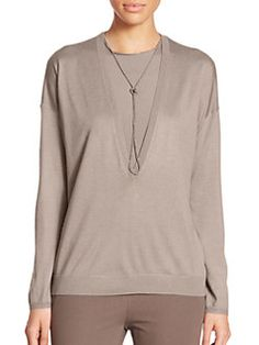 Brunello Cucinelli - Cashmere/Silk Sweater & Tank Top