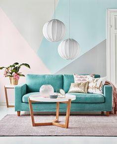 Clean 2,5-sits soffa med avtagbar klädsel från Mio.