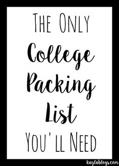 The Only College Packing List You'll Need (it includes a printable version!)