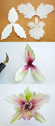 ideas cake fondant diy flower tutorial for 2019 Clay Flowers, Faux Flowers, Silk Flowers, Fabric Flowers, Crepe Paper Flowers, Paper Roses, Flower Crafts, Flower Art, Diy Flower