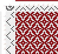 (Draft 348) draft image: 12 schäftig mit 12 Karten 31, Lehr-Methode der Weberei, Ferdinand A. Langewald, 4S, 7T