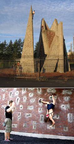 Alice in Wonderland Climbing Wall (Japan) Tired of a ho-hum climbing wall? Check out this whimsical climbing wall at the ILLOIHA fitness club in Japan, as Indoor Climbing, Climbing Wall, Ice Climbing, Rock Climbing Workout, Dangerous Sports, Evergreen State, West Lake, Extreme Sports, Mountaineering