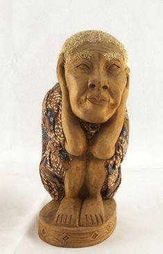 Catawiki pagina online de subastas Tau Tau Figure. Portrait of deceased. Sulawesi - Indonesia - End 20th century.