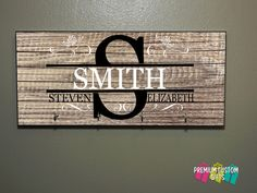 Monogram Wooden Key Holder - Wedding Gift - Anniversary Gift - Housewarming Gift - Key Hanger Design #KH105