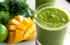 Mango Lime Kale Blast:  Mango Lime Kale Blast  •1 cup of frozen mango  •½ lime peeled and deseeded  •½ banana  •2 cups of kale  •Coconut water to line  •3-4 ice cubes