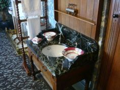 Sink in a bedroom at Cragside