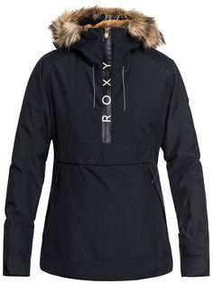 Roxy Women's Shelter Pullover Snow Jacket, Black at sportcheck Roxy Ski Jackets, Snowboarding Outfit, Snowboarding Jacket Women, Coats For Women, Jackets For Women, Womens Snowboard Jacket, Cold Weather Jackets, Outfits Damen, Ski Fashion