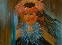 "Saatchi Art Artist Jenny Jonah; Painting, ""Hula Dance"" #art"