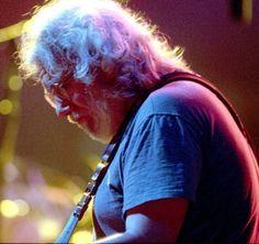 Jerry Garcia of the Grateful Dead in Oakland, CA on 2/26/95 (Photo by Jeff Kravitz/FilmMagic)