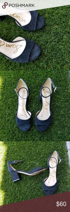 Sam Edelman low black heels These Sam Edelman heels are in great condition and only worn once. They are great for dressing up or down. They are suede. The style is Susie. Sam Edelman Shoes Heels
