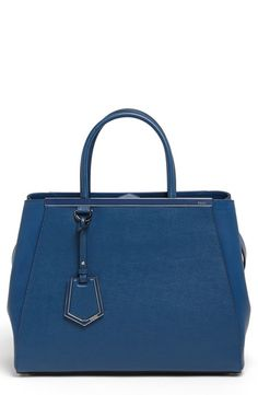 $2,350, Blue Leather Tote Bag: Fendi 2jours Elite Leather Shopper. Sold by Nordstrom. Click for more info: https://lookastic.com/women/shop_items/5718/redirect