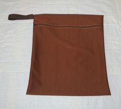 XL Brown Gym Bag / Sports Bag  Cloth Diaper Wet Bag  by WetBagIt, $15.99