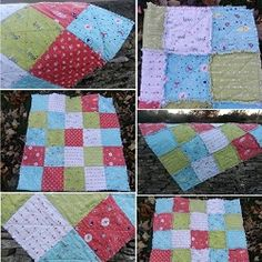 Enchant Collection from Riley Blake used to make a truly beautiful rag quilt - full instructions on our blog and fabric available in store.