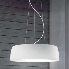 Leucos Axel 1 Light Drum Pendant Shade Color: Matte White, Bulb Type: 22 W Fluorescent Dining Table Pendant Light, Dining Lighting, Chandelier Lighting, Studio Lighting, Drum Pendant, Custom Lighting, Modern Lighting, Decorative Lighting, Led Lighting Solutions