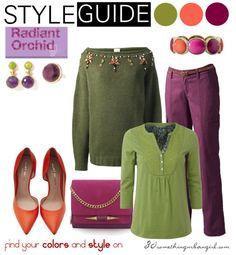 warm spring outfits | Cosy Radiant Orchid outfit ideas for Warm Spring and Warm Autumn