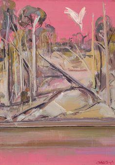 ARTHUR BOYD Shoalhaven at Sunset oil on copper, x cm signed lower right: Arthur Boyd Australian Painting, Australian Artists, Arthur Boyd, Fine Art Gallery, Art Oil, Figurative Art, Cool Artwork, Contemporary Artists, Art Forms