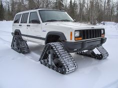 jeep xj | cherokee with snow tracks!! - Jeep Cherokee Forum