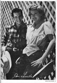 Lucille Ball and Desi Arnaz- engagement photo?