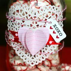 ** Chic Tags- delightful paper tag **: DIY Vintage Valentine Candy Jar