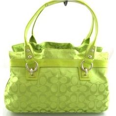 not a huge fan of coach purses with the logo all over it, but i am in love with this color.