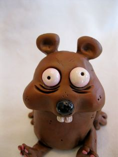 Crazy Little Critter Polymer Clay Animal by mirandascritters