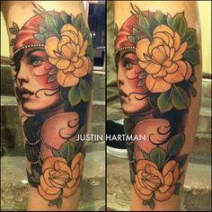 neo traditional tattoo Mulher Raposa - Pesquisa Google