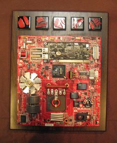 Computer wall art. Unique gift for men. Recycled by OfficeDeco