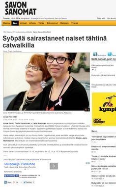 Savon Sanomien printtilehdessä (10.10.2014) ja nettisivuilla (9.10.2014) oli juttu Ihana nainen -muotinäytöksistä, jotka olivat osa Roosa nauha -keräystä. Muotinäytösten malleina oli rintasyövästä selvinneitä rohkeita naisia.