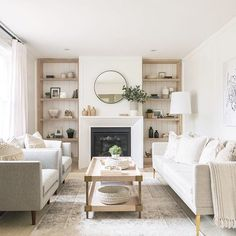 Attractive Neutral Living Room Inspiration,Room Redo Serene Neutral Living Room Copycatchic throughout Attractive Neutral Living Room Inspiration, Home Living Room, Interior, Home, Home Fireplace, Living Room Shelves, House Interior, Neutral Living Room, Living Decor, Home And Living