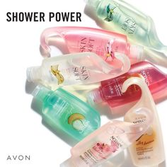 Avon Shower Gel gently cleanses your skin with a hydrating formula that also moisturizes skin. Its a gentle body wash for use with every skin type. Choose from Skin So Soft Original, Radiant Moisture, Soft & Sensual and Senses Shower Gel. Bath Body Works, Bath And Body, Avon Products, Beauty Products, Perfectly Posh, Avon Skin So Soft, The Face Shop, Avon Online, Makeup To Buy