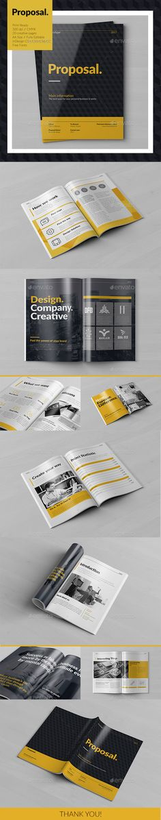 Creative Proposal Template InDesign INDD. Download here: http://graphicriver.net/item/creative-proposal/15568846?ref=ksioks